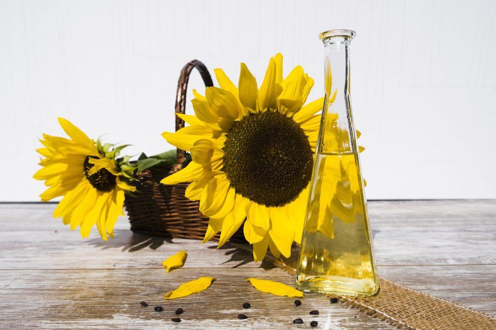 Bochechar com óleo de Girassol